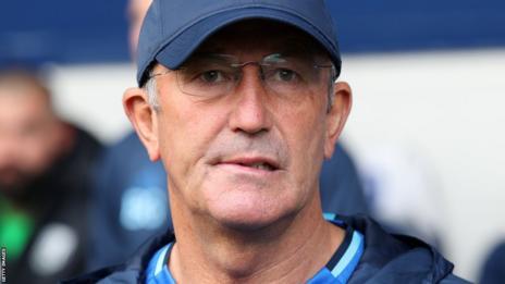 West Brom head coach Tony Pulis