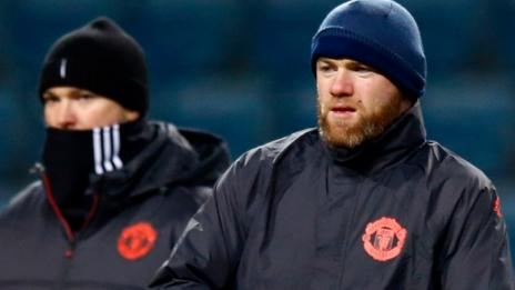 Wayne Rooney trains for Manchester United