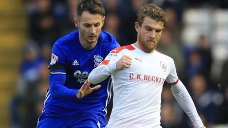 Sam Winnall took his tally to seven goals for the season with his two late strikes for Barnsley against Birmingham City at St Andrew's