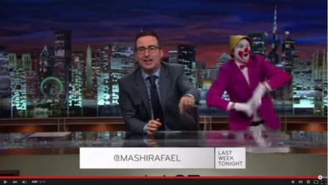John Oliver on Last Week Tonight show