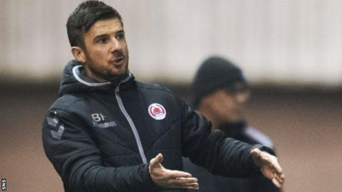 Barry Ferguson makes a point to his Clyde players during their recent Scottish Cup defeat by Ayr