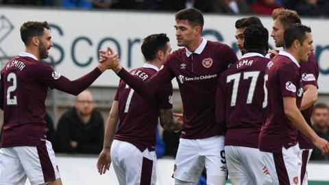 Hearts striker Kyle Lafferty is on target again