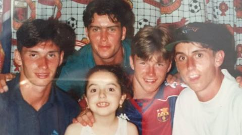 David Beckham in Barcelona shirt