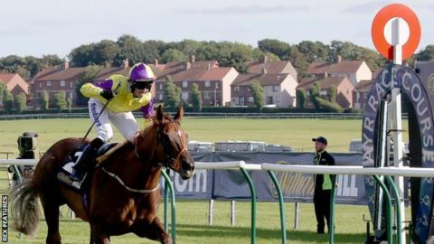 Action at Ayr Racecourse