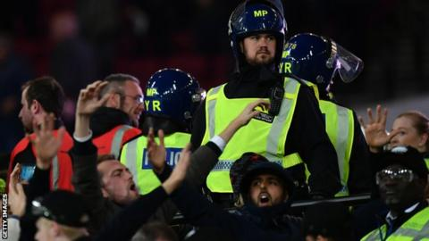 Crowd trouble at the London Stadium