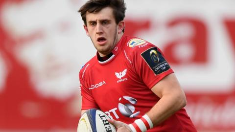Scarlets flyhalf Dan Jones