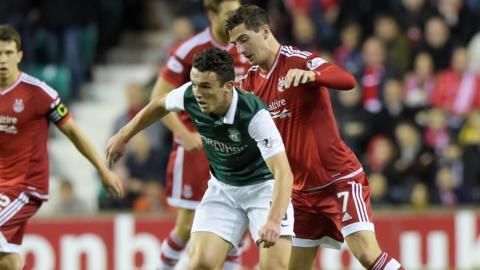 Hibernian midfielder John McGinn and Aberdeen's Kenny McLean