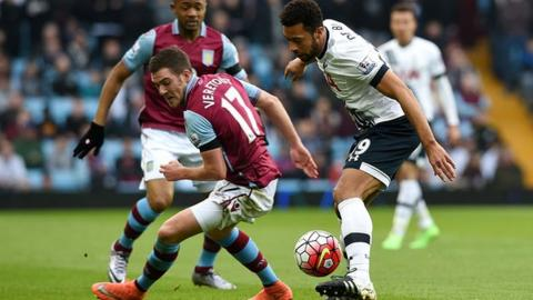 Aston Villa midfielder Jordan Veretout has made 29 appearances for the club, including 21 Premier League starts
