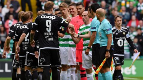 Rosenborg and Celtic players
