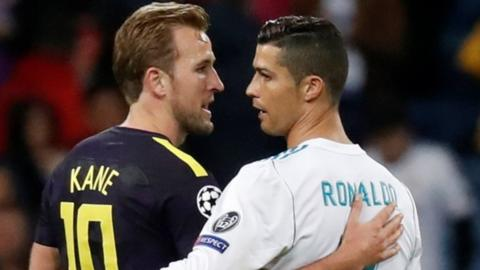 Harry Kane and Cristiano Ronaldo