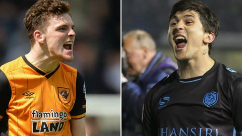 Hull's Andy Robertson and Sheffield Wednesday's Fernando Forestieri