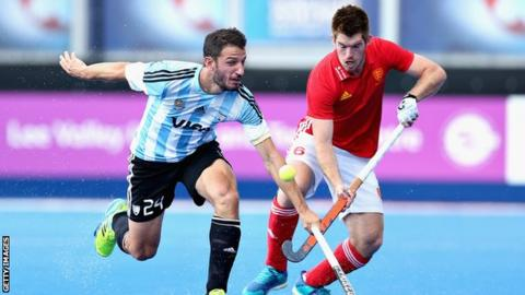 Argentina v England at the World League semi-finals