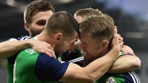 Northern Ireland celebrate
