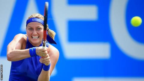 Kvitova reaches first quarterfinal of comeback