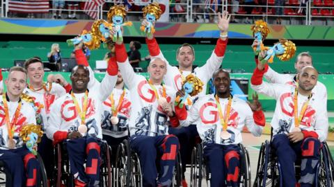 Great Britain's men's wheelchair basketball