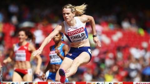 Eilidh Doyle hurdles