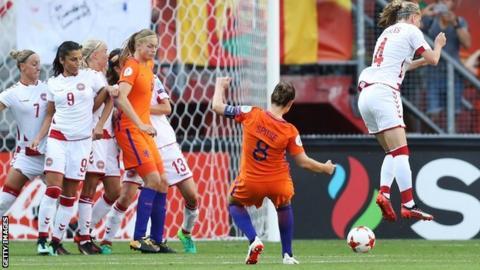 Netherlands beat Denmark in Euro 2017 final