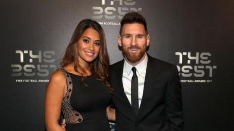 Lionel Messi (right)