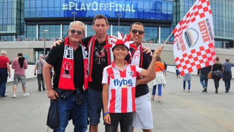 Exeter City fans at Wembley