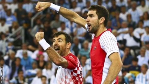 Croatia's Ivan Dodig and Marin Cilic