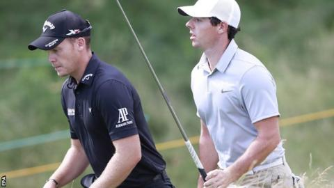 Danny Willett and Rory McIlroy
