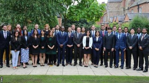 Former Manchester United star Park Ji-sung is among the dozens of new students starting a sports management course at De Montfort University Leicester
