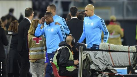 Evra sent off during warm-up for kicking own team's fan in head