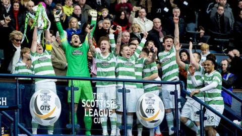 Celtic claim the Scottish League Cup in 2015