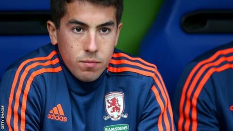 Carlos de Pena was unable to establish himself as a first-team player at Middlesbrough