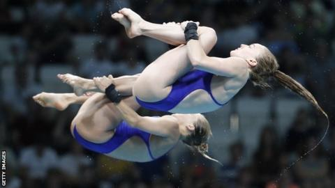 Great British divers Tonia Couch and Lois Toulson