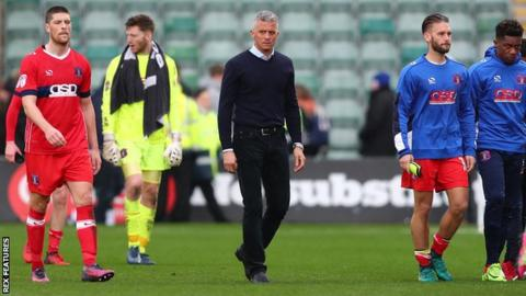 Carlisle United trudge off the field at Home Park in defeat by Plymouth