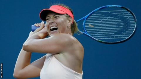 Sore left arm keeps Sharapova out of Cincinnati event