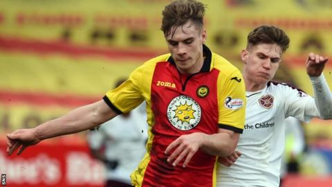 Liam Lindsay in action for Partick in their recent win over Hearts