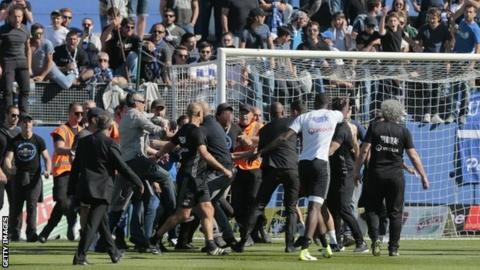 Bastia fans