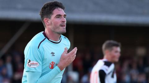 Hearts striker Kyle Lafferty