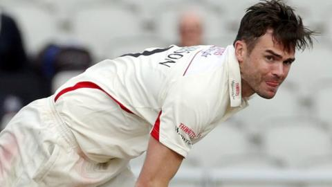 Lancashire and England fast bowler James Anderson