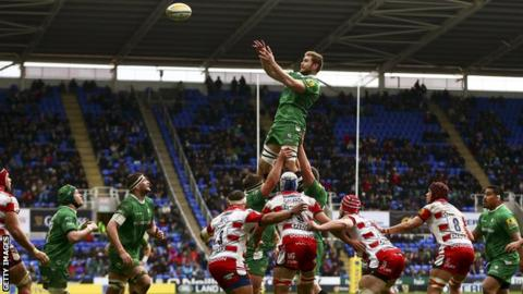 London Irish at the Madejski Stadium