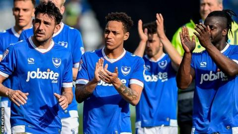 Portsmouth players take applause