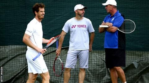 Andy Murray, Jamie Delgado and Ivan Lendl