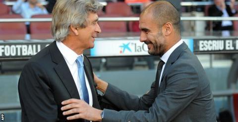 Manuel Pellegrini and Pep Guardiola