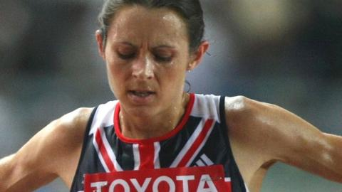 Jo Pavey pictured after finishing fourth in the 2007 World Championships 10,000m