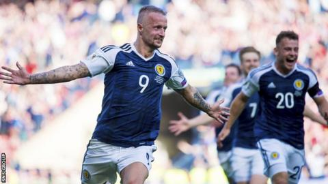 Leigh Griffiths scored two fantastic free kicks in the draw with England