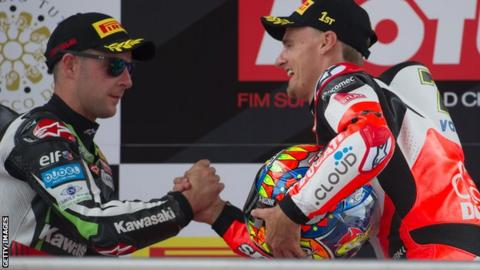 There was frustration for Jonathan Rea while Chaz davies celebrated victory in France