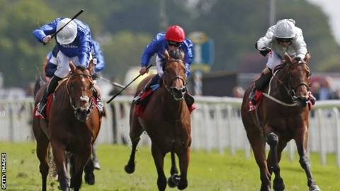 Permian wins the Dante Stakes at York