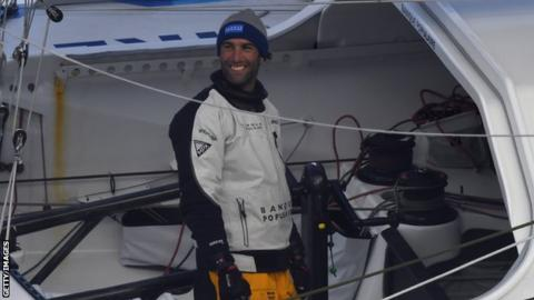 Vendee globe french sailor armel le cleac 39 h wins in - Armel le cleac h ...