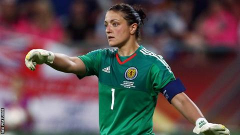 Gemma Fay in action for Scotland