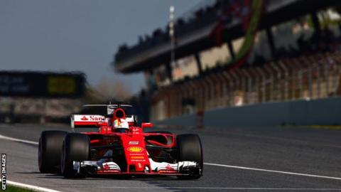 Sebastian Vettel edges Mercedes, fastest in Thursday tests