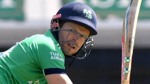 Ed Joyce was among several Irish batsmen to get out to poor shots