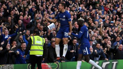 Azpilicueta celebrates after goal
