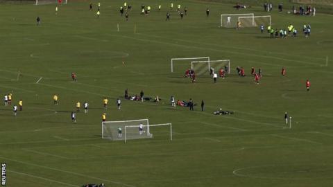 Amateur football on Hackney Marshes